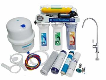 Depuragua Umkehrosmose MOON75 6 Stufen. Manometer Pumpe, Verbrenner, Wasserhahn Lux - 1