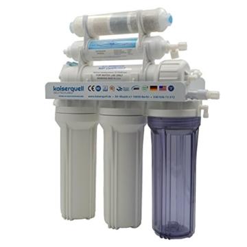 kaiserquell Premium Umkehrosmoseanlage aus Deutscher Manufaktur 6 stufig BAKTERIEN PESTIZIDE und NITRAT aus Leitungswasser Wasserfilteranlage Osmoseanlage - 2