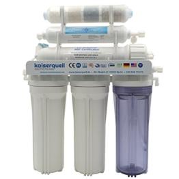 kaiserquell Premium Umkehrosmoseanlage aus Deutscher Manufaktur 6 stufig BAKTERIEN PESTIZIDE und NITRAT aus Leitungswasser Wasserfilteranlage Osmoseanlage - 1