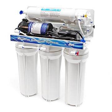 Naturewater 5 Stufen Umkehrosmose RO 180 L/Tag mit Druckerhöhungspumpe und manuellem Ventil - 3