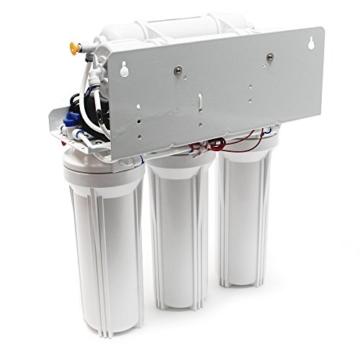 Naturewater 5 Stufen Umkehrosmose RO 180 L/Tag mit Druckerhöhungspumpe und manuellem Ventil - 4
