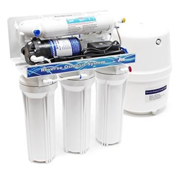 Naturewater 5 Stufen Umkehrosmose RO 180 L/Tag mit Druckerhöhungspumpe und manuellem Ventil - 1