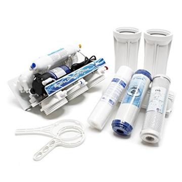 Naturewater 5 Stufen Umkehrosmose RO 180 L/Tag mit Druckerhöhungspumpe und manuellem Ventil - 6