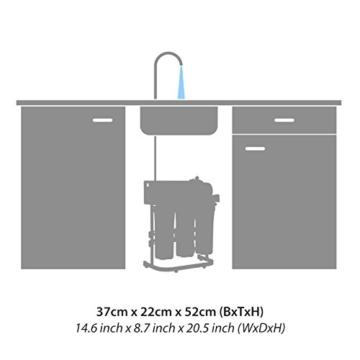 RDL Group Ultimate Plus Superflow | Umkehrosmose Wasserfilter 600 GPD Membrane und Hochleistungspumpe | Kraftpaket ohne Tank | Directflow Osmoseanlage | Bis zu 1600 ml Osmosewasser pro Minute - 5