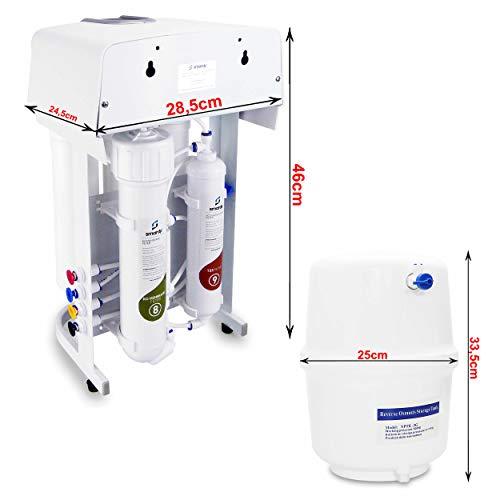 smardy PRO 190 Quick Change Umkehrosmose Wasserfilter 5 Stufig Schnellwechselfilter - 2