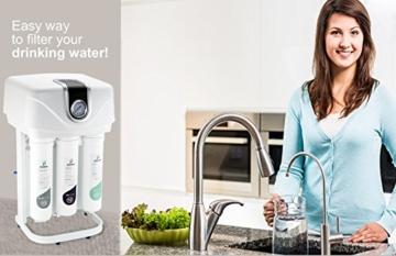 smardy PRO 190 Quick Change Umkehrosmose Wasserfilter 5 Stufig Schnellwechselfilter - 3