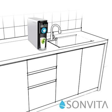 Sonvita PURA UP Auftisch Umkehrosmose Wasserfilter für kalkfreies Trinkwasser Osmoseanlage für schadstofffreies Leitungswasser - 6