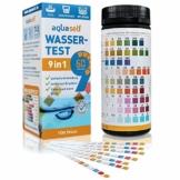 aquaself 9-in-1 Wassertest - 100 Stück Trinkwasser Teststreifen zur Überprüfung der Wasserqualität - inkl. gratis E-Book - 1