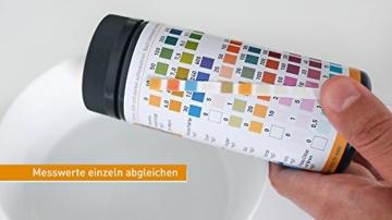 aquaself 9-in-1 Wassertest - 100 Stück Trinkwasser Teststreifen zur Überprüfung der Wasserqualität - inkl. gratis E-Book - 4
