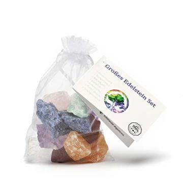 Große Wasserstein Mischung/Set NATUR mit den 7 beliebtesten Natursteinen | 300g Premium Edelsteine zur Herstellung von Edelsteinwasser - 4