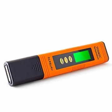 Measury EC Meter Tester TDS Messgerät für Osmoseanlage, Aquarium und Trinkwasser, Leitwertmessgerät mit Thermometer, Leitfähigkeitsmessgerät - 2