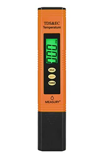 Measury EC Meter Tester TDS Messgerät für Osmoseanlage, Aquarium und Trinkwasser, Leitwertmessgerät mit Thermometer, Leitfähigkeitsmessgerät - 3