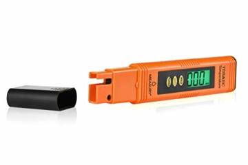 Measury EC Meter Tester TDS Messgerät für Osmoseanlage, Aquarium und Trinkwasser, Leitwertmessgerät mit Thermometer, Leitfähigkeitsmessgerät - 4