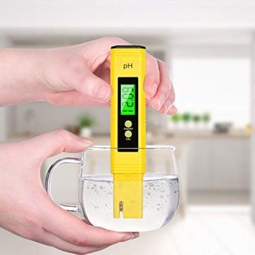 PH Messgerät , omitium PH Messgerät Wasser mit LCD Anzeige PH Wert Messgerät Digitaler PH-Meter für Trinkwasser, Lebensmittel, Schwimmbäder, Thermen, Aquarien, Hydroponik und andere  - 2