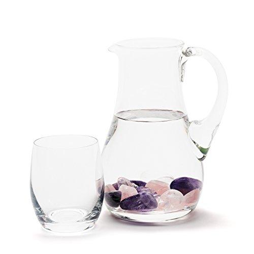 getrommelte Edelsteine - Premium Edelsteinwasser Basis-Mischung | Edelstein Grundmischung: Rosenquarz, Amethyst, Bergkristall | Wassersteine / Heilsteine getrommelt - 2