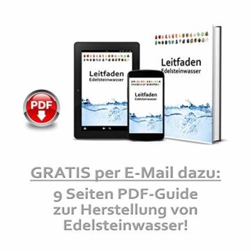 Premium Edelsteinwasser Basis-Mischung | Edelstein Grundmischung: Rosenquarz, Amethyst, Bergkristall | Wassersteine / Heilsteine getrommelt - 5