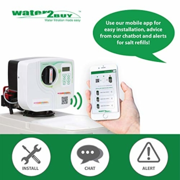 Meter Wasserenthärter AS800 von Water2Buy   Hartwasseraufbereitungssystem   Ultra-leises automatisches Gerät zur 100% igen Beseitigung von Kalkablagerungen   Entwickelt für alle Salzarten - 3