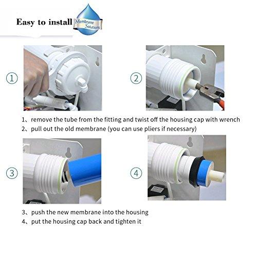 Umkehrosmose-RO-Filter 400GPD-  Heimwasser-RO-Filter, Umkehrosmose, Membran Element mit Gehäuse - 3