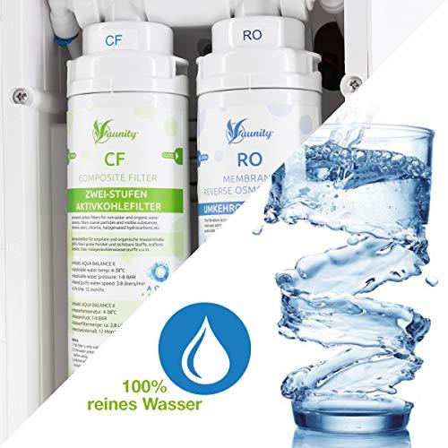 Osmoseanlage ohne Wasseranschluss aunity®️ Aqua Balance II - Wasserfilter Anlage - Osmoseanlage Trinkwasser - sofort 4 Verschiedene Temperaturen - reichert Anionen&Mineralien an - 5