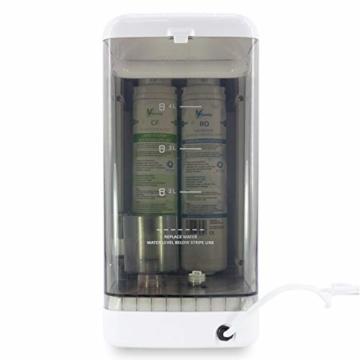 aunity®️ Aqua Balance II - Wasserfilter Anlage - Osmoseanlage Trinkwasser - sofort 4 Verschiedene Temperaturen - reichert Anionen&Mineralien an - 9