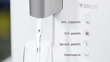 BRITA Wassersprudler yource pro top - Elektronisch mit CO2 Zylinder - Mit Filter, Kühlung für Lieblingswasser vom Wasseranschluss - Weiß - 3