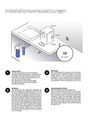 BRITA Wassersprudler yource pro top - Elektronisch mit CO2 Zylinder - Mit Filter, Kühlung für Lieblingswasser vom Wasseranschluss - Weiß - 5