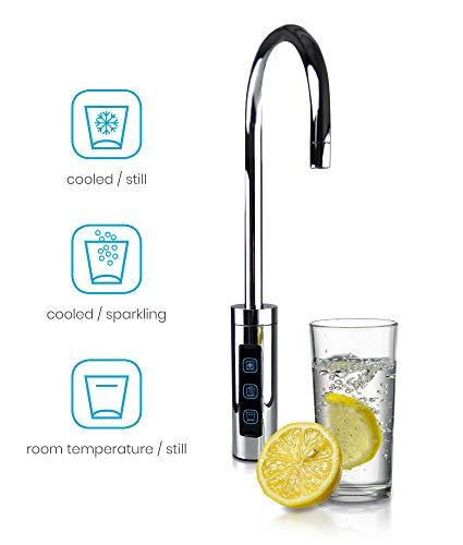 smardy blue Soda & Cool Wassersprudler mit Ultrafiltration und Aktivkohleblockfilter für stilles, gekühltes, spritziges Sprudelwasser - 3