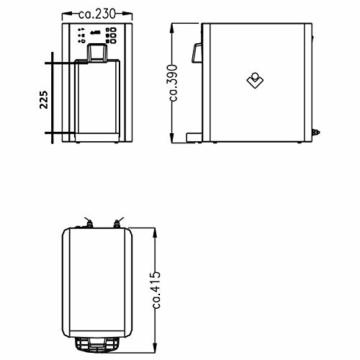 SPRUDELUX Auftisch-Trinkwassersystem Blue Diamond + Filtereinheit ohne CO2 Flasche Profi-Wassersprudler für den Privathaushalt. Spritziges Mineralwasser/Sprudelwasser Sprudelgerät Wassersprudler - 5