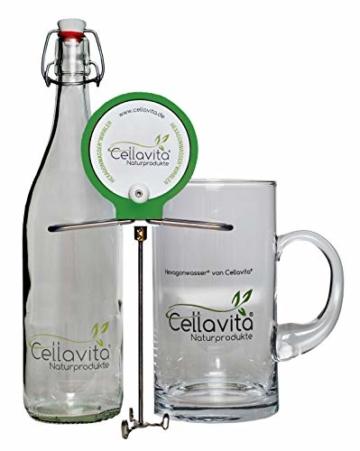 CELLAVITA Hexagonwasser® Hand-Wirbler im Set mit Glaskrug & Flasche | Made in Germany | Wasserwirbler, Handwirbler, Wasserverwirbler - 1