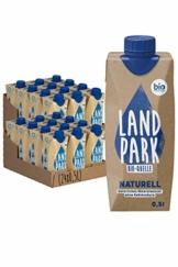 Doppelpack Landpark Bio-Mineralwasser Naturell, 24x0,5L Tetra Pak | natürliches Mineralwasser aus der Bio-Quelle | natriumarm & ohne Kohlensäure | praktisch für unterwegs | stilles Wasser | pfandfrei - 1