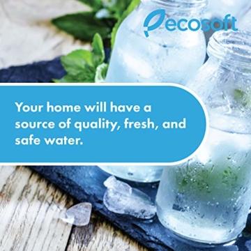 Ecosoft 3-stufiges Trinkwasser-Filtrationssystem unter der Spüle, hohe Kapazität, inkl. Sediment, 2 x CTO-Kohleblockfilter mit Küchenarmatur - 7