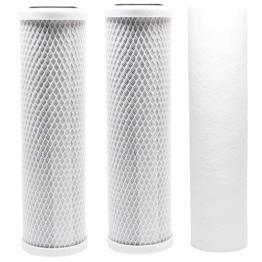 Ersatz-Filter-Set, kompatibel mit Krystal Pure KR10 RO System – inkl. Kohleblockfilter und Polypropylen-Sedimentfilter - 1